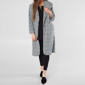 Black and White Lightweight Coat